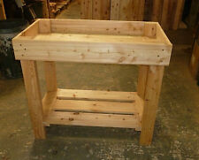 Potting Table Greenhouse Growing table 1m handcrafted by Gardenlarch