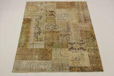 Moderne Patchwork Délavé Look Antique Tapis de Perse Tapis D'Orient 2,52 X 2,02