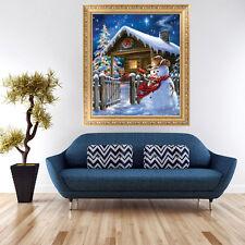 5D DIY Diamond Painting Christmas Snowman Embroidery Cross Stitch Home Decor