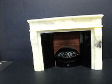 DOLLHOUSE FIREPLACE/ MARBLE LOOK/ ELECTRIC/A2333