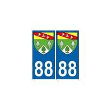 88 Vosges autocollant plaque blason armoiries stickers département arrondis