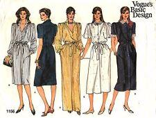Vogue Sewing Pattern Women's LONG or SHORT DRESS 1156 Size 14-16-18 UNCUT