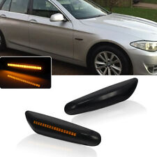 Front LED Side Marker Lights Lamps FOR 2004-2014 BMW 1 3 5 X Series Smoked Lens