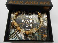 Alex and Ani Terra Destiny Wrap Bangle Bracelet Rafaelian Gold