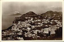 CAPRI Italien Cartolina Italiana Italy Postcard ~1930/40 Panorama Gesamtansicht