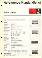 Nordmende Service Manual für M 2000-Elektra-Skandia-Rigoletto  4.613