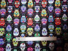 Sugar Skull, Cotton Fabrics, Fabrics by the Yard, Timeless Treasures Fabric,