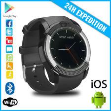 Original V8 Smart Watch Montre Horloge Bluetooth Android iOS Black