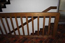 Holzgeländer + Sprossen für Dach und Kellergeschoss + ein Handlauf, Dunkel Braun