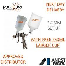 ANEST IWATA LPH-80 SPOT REPAIR SPRAY GUN 1.2MM 70ML & 250ML FREE  ADDITIONAL CUP