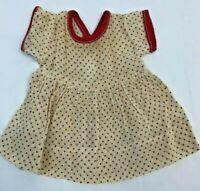 Vintage Doll Dress Red White Polka Dot Semi Sheer Short Sleeve Clothing Clothes