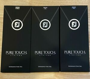 (3) FootJoy Pure Touch Limited Edition Golf Glove Pack X-Large XL #84250