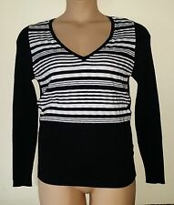 Next Women's V Neck Striped Jumpers & Cardigans
