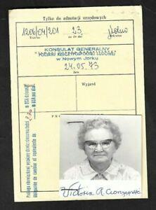 1973 Poland Consulate General Application for Visa