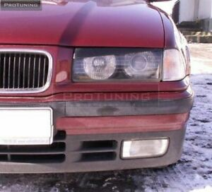 HEADLIGHTS FIBERGLASS EYEBROWS BAD LOOK1 STYLE FOR BMW E36