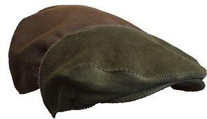 Walker & Hawkes - Uni-Sex Corduroy Flat Cap Classic Hat S-2XL
