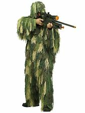 Mens Army Camouflage Military Soldier Ghillie Suit Sniper Fancy Dress Costume