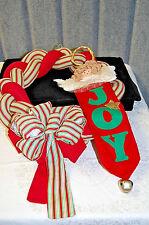 Cloth Christmas Wreath and Angel Stocking - X563
