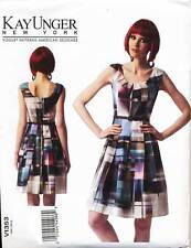 VOGUE SEWING PATTERN 1353 MISSES 16-24 KAY UNGER FIT & FLARE DRESS IN PLUS SIZES