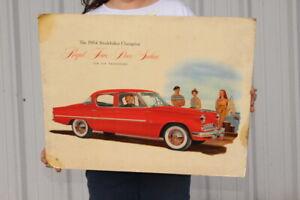 "Vintage 1954 Studebaker Regal Four Door Sedan Car Dealership Gas Oil 24"" Sign"