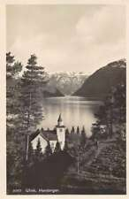 Ulvik Hardanger Norway Church Scenic View Real Photo Postcard J74519