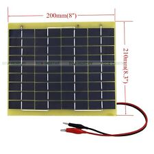 5W Epoxy Solar Panel 5W 12V Garden Fountain Pond Battery Charger Camping Hiking