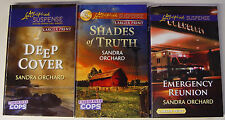 (3) Love Inspired Suspense Undercover Cops books by Sandra Orchard