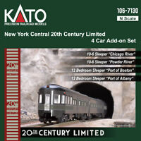 Kato 106-7130-1 N New York Central 20th Century Limited 4 Car Add Set PRE-ORDER