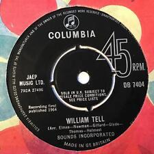 "SOUNDS INCORPORATED William Tell Ex 1964 UK Columbia Beat 7"""
