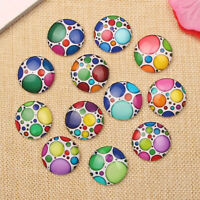 Round Dome Polka Dot Photo Glass Cabochon DIY Earrings Bracelet Necklace 12-25mm