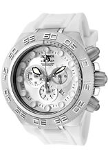 Invicta Men's Subaqua 50mm Swiss Chrono White Silicone Watch 1536