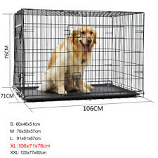 """24''/30''/36''/42""""/48'' Pet Dog Crate Cage Foldable Kennel Wire 2 Door Bed/COVER"""