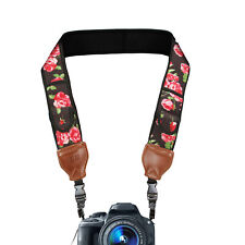 Camera Neck Strap Shoulder Sling with Accessory Storage Pockets