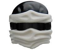Lego Kappe in schwarz weiss Helm Tuch Ninjago für Minifiguren 19857pb03 Neu