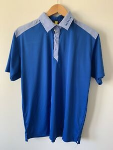 New Kuta Golf S/Sleeve Cool-Dry Polo Shirt Mens XL Blue Pre Owned *L1
