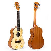 Kmise Concert Ukulele Top Professional Spruce Uke Hawaii Guitar 23 Inch Ukelele