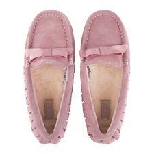 Children's UGG Rosea Ruffles Moccasin 5 M Baby Pink Suede