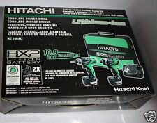 HITACHI KC10DAL 10.8 Volt 2 Piece Combo Kit with Driver Drill and Impact Driver