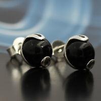 Onyx Silber 925 Ohrringe Damen Schmuck Sterlingsilber S186