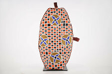 "Colorful Yoruba Beaded Pillow 21"" - Nigeria - African Art"