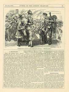 Carry Me Daddy 1916 Punch Satirical Cartoon Antique Print