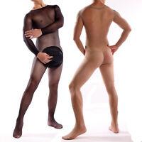Catsuit SCHRITT offen  M L  Nylon Spitze Men's Bodystocking Stocking Body suit