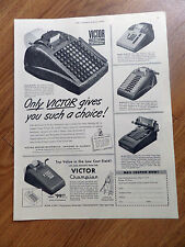 1951 Victor Adding Machine Co Ad  Shows 6 Models