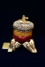 2004 Estee Lauder Intuition Acorn Amulet Solid Perfume Compact Stand Rare BOX