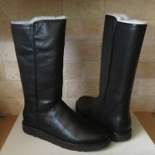 UGG ABREE II NERO BLACK WATER-RESISTANT LEATHER TALL BOOTS SIZE US 11 WOMENS