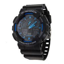 New CASIO G-Shock GA100-1A2 Analog Digital Black Mens Watch