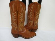 Frye Brown Leather Cowboy Boots Womens Size 6 B Style 6215 USA