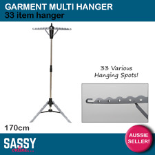 Garment Multi Hanger 33 Ironing Clothes Rack Laundry Airer Portable Fold Up