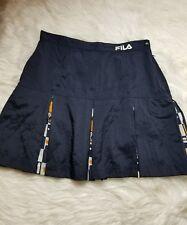 Vintage Fila Women's Size L Blue White Pleated Tennis Skirt Logo Insert-D30