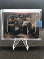 2020 Topps Tribute Baseball Ichiro & Kikuchi Dual Jersey Relics 9/10 Mariners